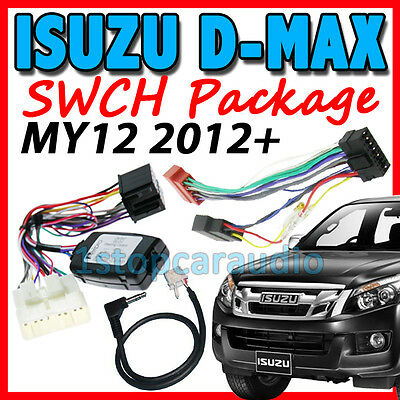 Isuzu D-Max Dmax 2012-2015 Steering Wheel Control Harness + Iso + Patch Lead
