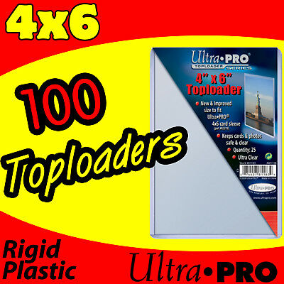 100 ULTRA PRO 4x6 HARD RIGID TOP LOAD TOPLOADER POSTCARD PHOTO HOLDER SLEEVES
