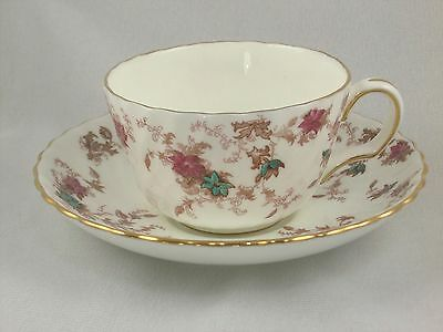 Minton Ancestral Cup and Saucer Bone China England S376