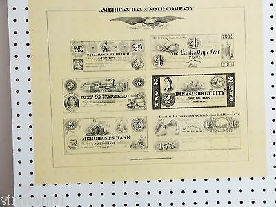 AMERICAN BANKNOTE CO. Original-Plate Reprint of Antebellum Currency MINT Cond.