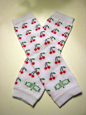 girls infant toddler child leg warmers arm warmers cherries