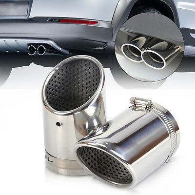 STAINLESS STEEL EXHAUST TAIL TIP pipe MUFFLER for VW Passat B6 3C 2006-10 CC EOS