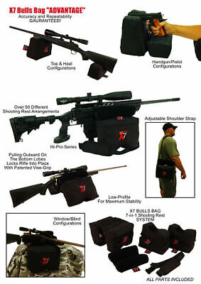 BULLS BAG #0007-X7 PRO-Shooting Rest  SYSTEM 7 Bag Set w/APG RT-Camo (Unfilled)