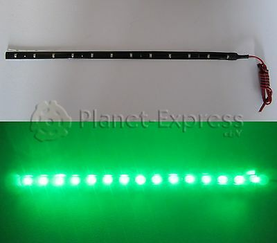 Tira 15 Led SMD 3528 30cm. VERDE Waterproof coche, barco, caravana, acuario...