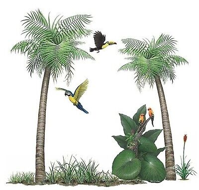 Walls of the Wild Palm Tree Sticker Mural