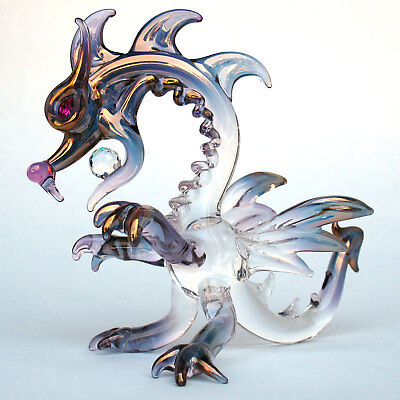 Dragon Classic Figurine Hand Blown Glass Crystal Ball