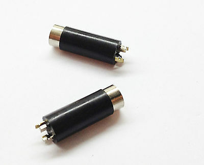 2 pcs 3.5mm 4 Pole Female Repair headphone earphone Jack Plug Audio Soldering