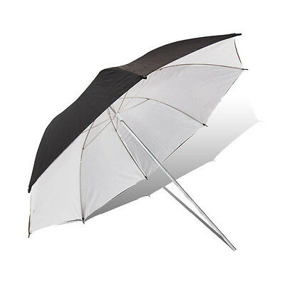 "33"" Photo Studio Black/White Umbrella Video Flash Light Lighting Reflector"