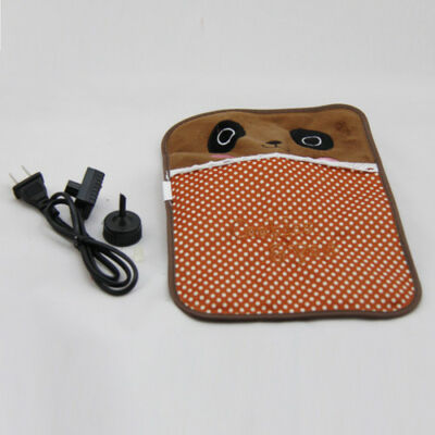 Allover Body Hand Warmer Hot Water Bottle Flannel Electric Warming Bag Brown