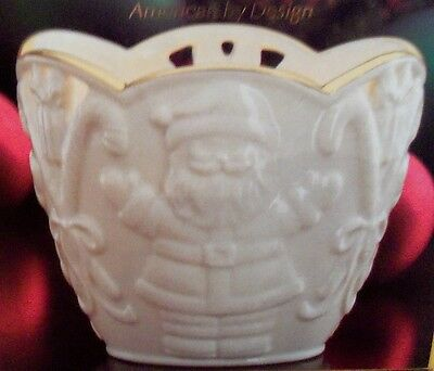Lenox Merry Lights Santa Votive Candle Holder