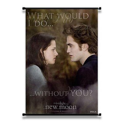 """TWILIGHT """"WITHOUT YOU"""" EDWARD & BELLA NEW MOON WAND POSTER 56 x 81 CM NECA"""