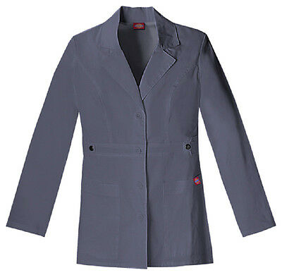 Scrubs Dickies Youtility Lab Coat  Pewter 82408  FREE SHIPPING!