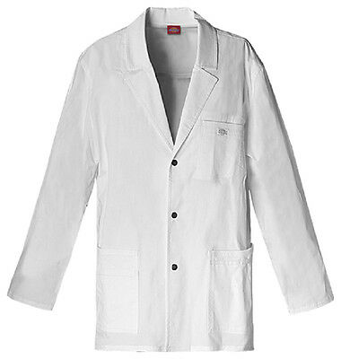 Scrubs Dickies Men's Youtility Lab Coat  White 81403  FREE SHIPPING!
