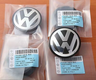 Genuine Vw Alloy Wheel Caps 7L6 601 149 B Touareg Transporter 70Mm Set Of 4