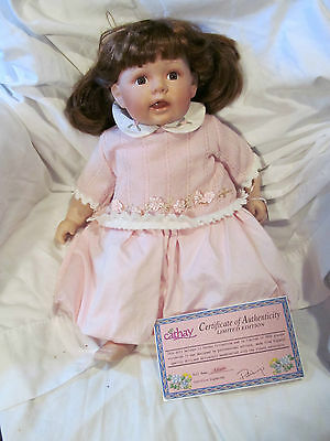 """Porcelain Doll Allison Baby Doll by Cathy 20"""""""
