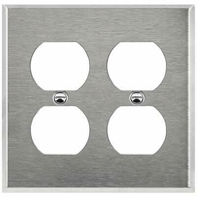 Stainless Steel Double Gang Outlet Cover/2 Gang Duplex Receptacle Wall Plate