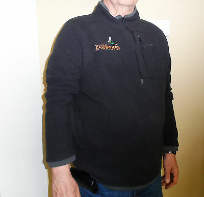 Simms Men's Black Rivershed Sweater - FlyMasters Embroidered Logo