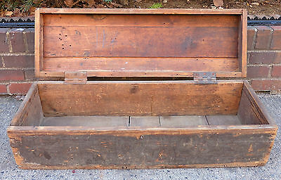 Antique Wood Dome Top Chest / Trunk with Dovetail Corners