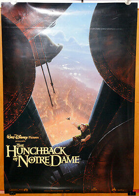 orig. US 1sh movie poster THE HUNCHBACK OF NOTRE DAME Disney 1996 double sided