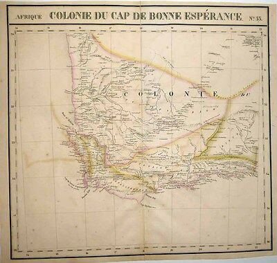 1827 Vandermaelen Map SOUTH AFRICA WESTERN CAPE Maps Burchell's 1811 Expedition
