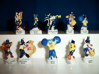 LOONEY TUNES MARCHING BAND Set 10 Mini Figurine MUSICIANS PARADE Porcelain FEVES