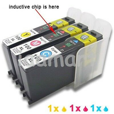 3 ink compatible for lexmark 100xl C/M/Y Pro901 Pro905