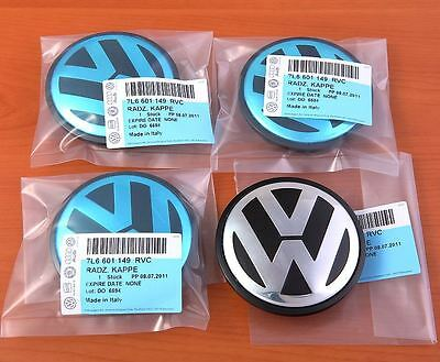 Genuine Vw Alloy Wheel Caps 7L6 601 149 Rvc Touareg Transporter 77Mm Set Of 4