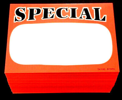 100 Special ((Quality!)) Retail Store Sale Price Display Case & Shelf Signs Tags