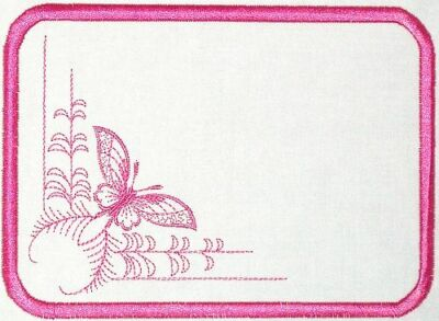 Butterfly Embroidered Quilt Label Customize for quilt tops or blocks