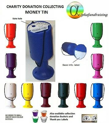 Charity Donation Collecting Money Tin/pot/box.order From 1-50+Labels P & P Incl.