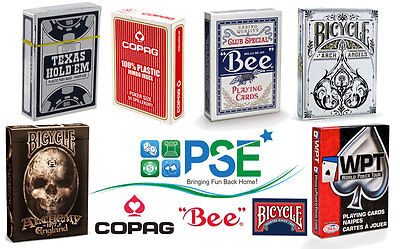 Bicycle Bee Copag Wpt Poker Playing Cards Single Decks Jumbo Standard Peek Index