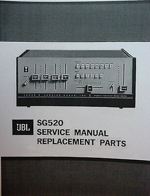 JBL SG520 PREAMPLIFIER SERVICE MANUAL 34 Pages