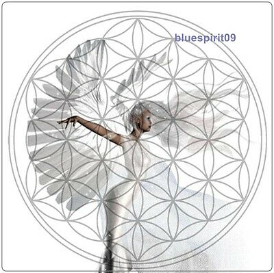 6 Energie Karten - The Flower of Life heilige geometry ~ angel ~ Vita Pad ~ neu