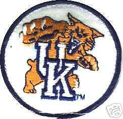 U Of Kentucky Wildcats Embroidered Iron On Patch New