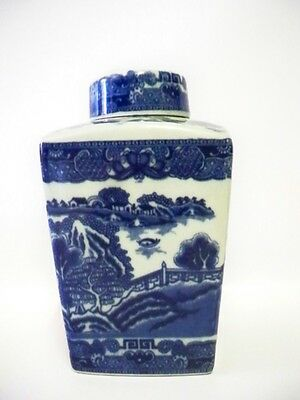 Victoria Ironstone Large Ginger Jar Flow Blue style ware
