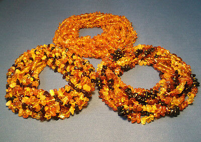 Lot Wholesale Of 30 Baltic Amber Baby Necklaces Mixed Color