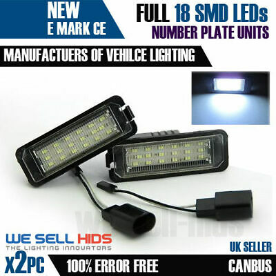 VW Golf MK6 MK5 MK4 MK7 Phaeton Scirocco Polo LED License Number Plate Light