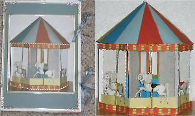Card/Paper Craft Templates CD: Carousel Greetings Card CD422 by Frandor Formats