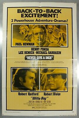 Never Give An Inch & Willie Boy - Paul Newman - Original Usa 1Sht Movie Poster
