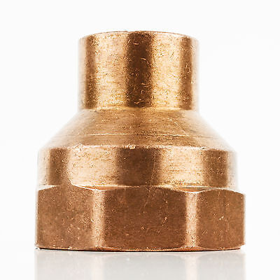 "1/2"" x 3/4"" CxF Copper Adapter Sweat x FIP Thread Plumbing Reducer Fitting"
