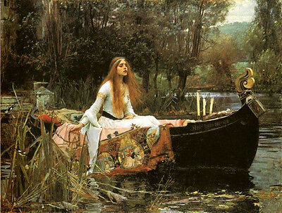 POSTER ART THE LADY OF SHALOTT BY JOHN STEPHENS FREE SHIP #3499 LW1 S