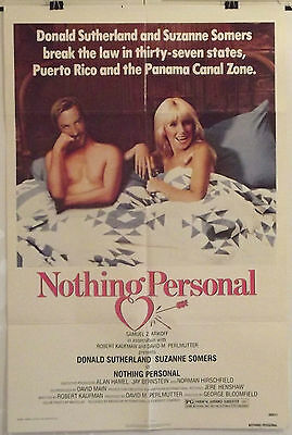 Nothing Personal - Donald Sutherland - Original American One Sheet Movie Poster