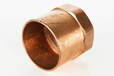 "2"" x 1-1/4"" CxF Copper Adapter Sweat x FIP Thread Plumbing Reducer Fitting"