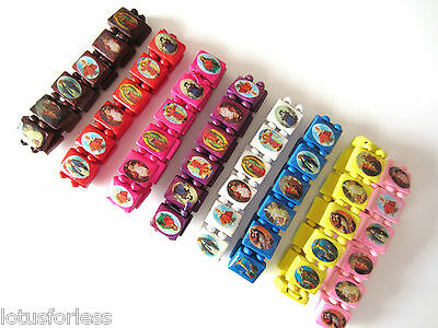 Funky wood religious icon bracelets wristbands COLOUR CHOICE *NEW*