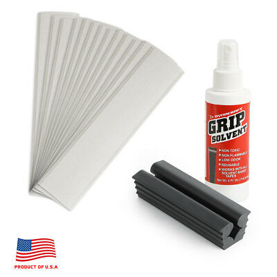Golf Club GRIP KIT 13 Tape Strips Solvent Vise Clamp Regripping Directions
