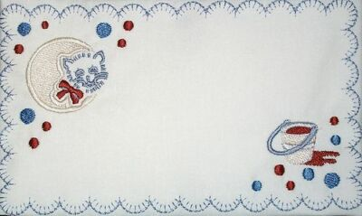 Kitty Embroidered Quilt Label Customize for quilt tops or blocks