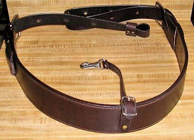 Amish made in USA BROWN WESTERN HORSE Genuine Leather Back Cinch / Rear Girth