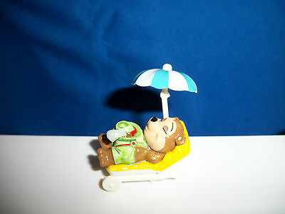 TEDDY BEAR SUN BATHING SUNCHAIR Figure Kinder Surprise TOP TEN TEDDIES AT BEACH