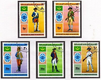 Mauritania 1976 Bicentenary of American Independence SG 494/498 FU Complete Set