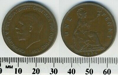 GREAT BRITAIN 1936 - 1 Penny  Large Coin - King George V